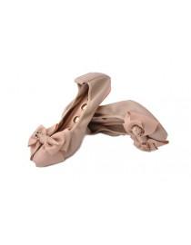 Бежевые балетки с ба...