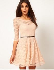 Платье ажурное персикового цвета, , 1 700 р., 159, , Летние платья