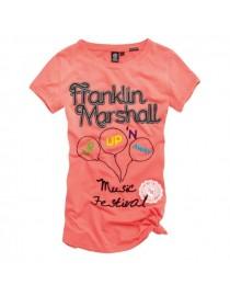 Футболка Franklin Marshall rose , , 850 р., 010, Franklin Marshall, Женские