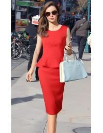 Красный костюм с юбкой, , 3 000 р., 11, , Летние платья