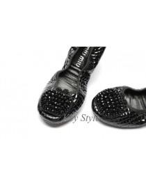 Балетки черные со стразами, , 3 000 р., 046, , Обувь