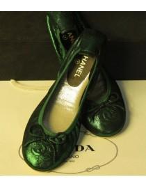 Балетки зеленые, , 2 600 р., 037, , Обувь