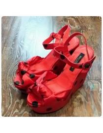 Босоножки красные , , 3 100 р., 275, , Обувь