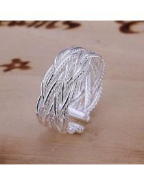 Элегантный браслет с напылением серебра, , 650 р., 128, , Кольца