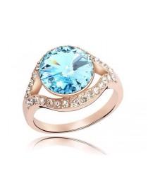 Кольцо с голубым кристалом , , 790 р., 082, , Кольца